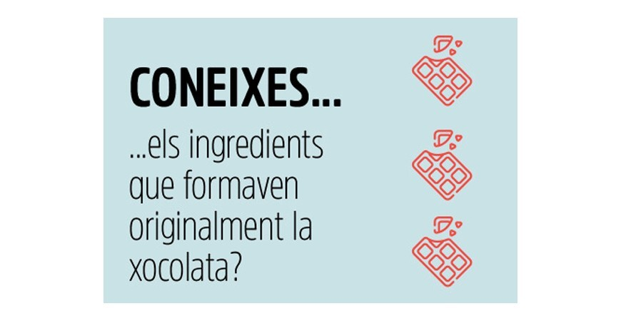 INGREDIENTS INICIALS DE LA XOCOLATA