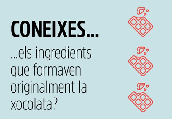 INGREDIENTS INICIALS DE LA XOCOLATA